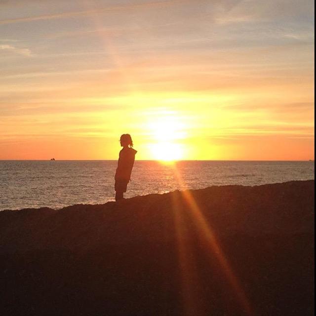 Isobel on beach 2016