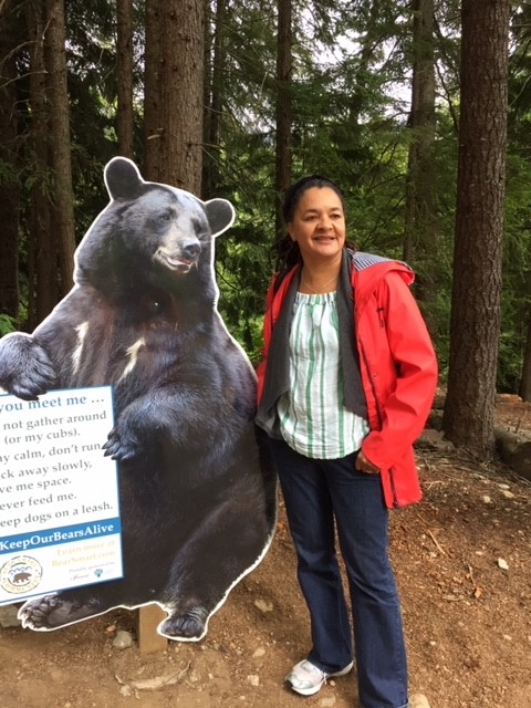 Vancouver Me and bear 4 August 2019